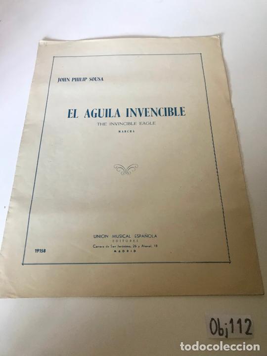 PARTITURA EL ÁGUILA INVENCIBLE (Música - Partituras Musicales Antiguas)