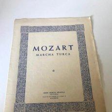 Partituras musicales: PARTITURA MOZART MARCHA TURCA. Lote 226293173