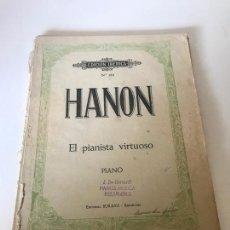 Partituras musicales: PARTITURA HANON - EL PIANISTA VIRTUOSO. Lote 226293280