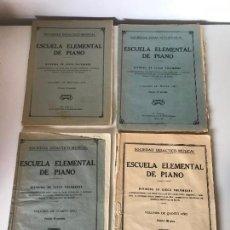 Partituras musicales: LOTE DE PARTITURAS - ESCUELA ELEMENTAL DE PIANO. Lote 226293870