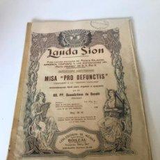 Partituras musicales: PARTITURA LAUDA SION - MISA PRO DEFUNCTIS. Lote 226298600