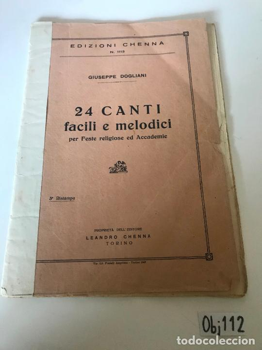 24 CANTI FACILI E MELODICI (Música - Partituras Musicales Antiguas)
