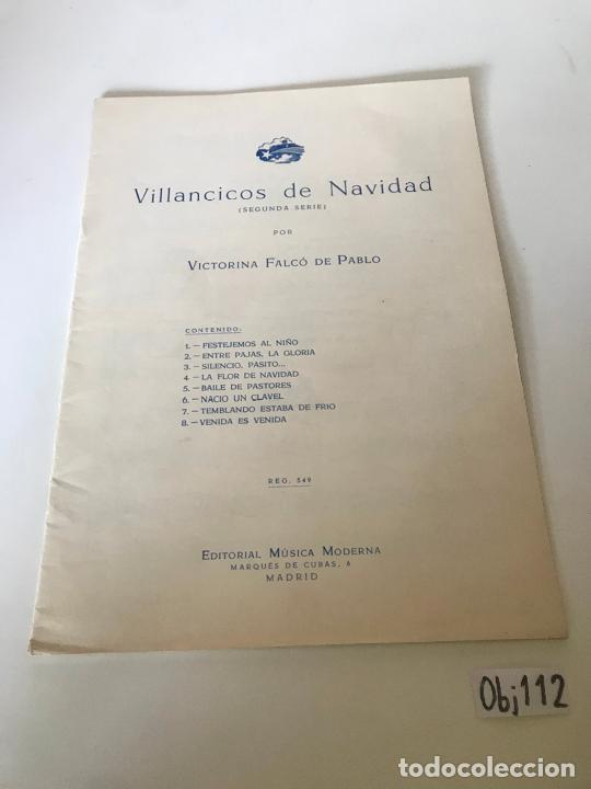 VILLANCICOS DE NAVIDAD (SEGUNDA SERIE) POR VICTORINA FALCÓN (Música - Partituras Musicales Antiguas)