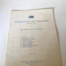 Partituras musicales: VILLANCICOS DE NAVIDAD (SEGUNDA SERIE) POR VICTORINA FALCÓN. Lote 226300693