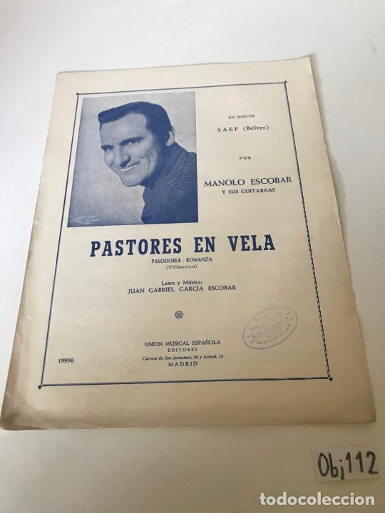 PASTORES EN VELA - MANOLO ESCOBAR (Música - Partituras Musicales Antiguas)