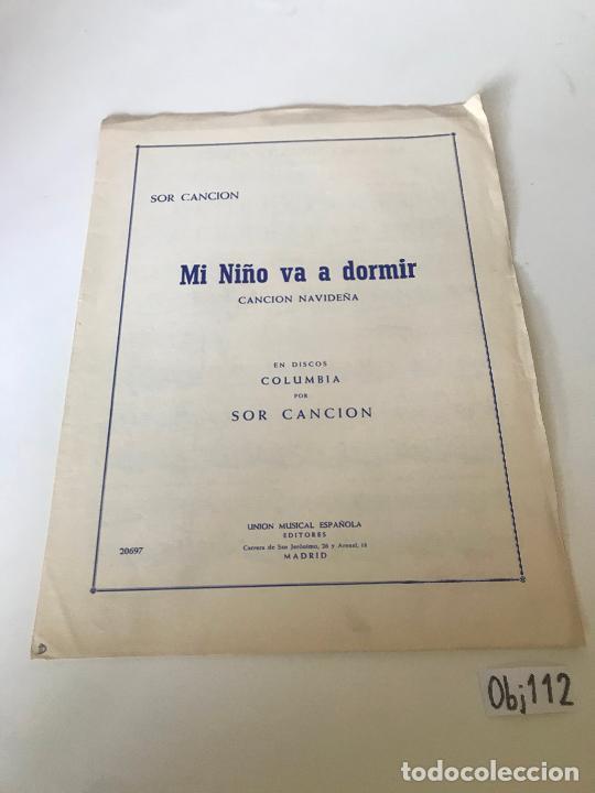 MI NIÑO VA A DORMÍR (Música - Partituras Musicales Antiguas)