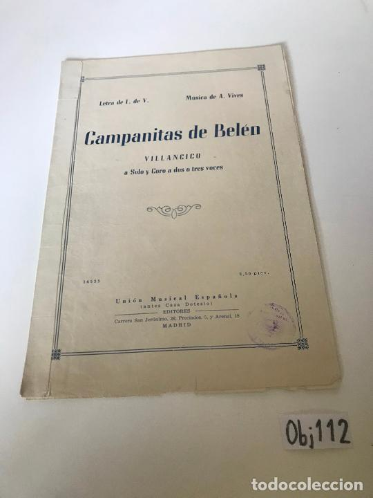 CAMPANITAS DE BELEN (Música - Partituras Musicales Antiguas)