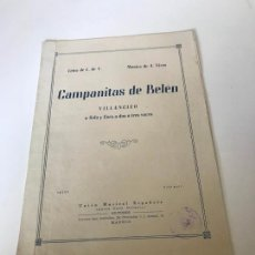 Partituras musicales: CAMPANITAS DE BELEN. Lote 226302075