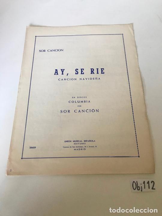 AY, SE RÍE (Música - Partituras Musicales Antiguas)