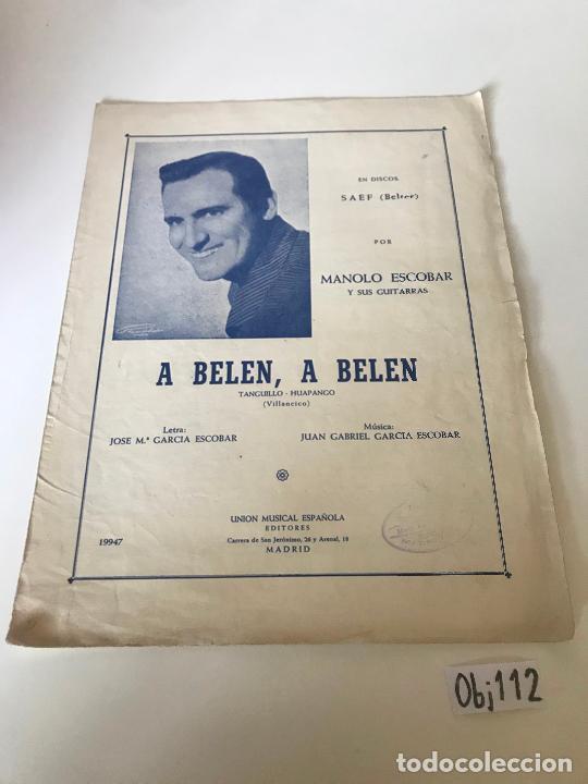 A BELEN, A BELEN (Música - Partituras Musicales Antiguas)