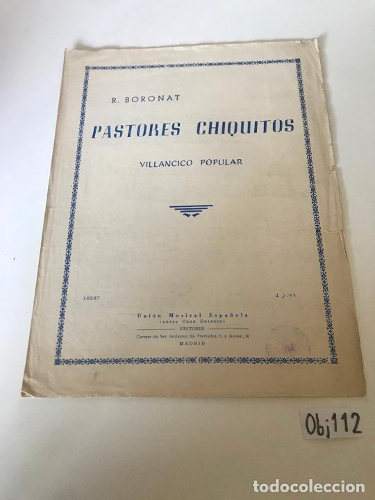 PASTORES CHIQUITOS (Música - Partituras Musicales Antiguas)