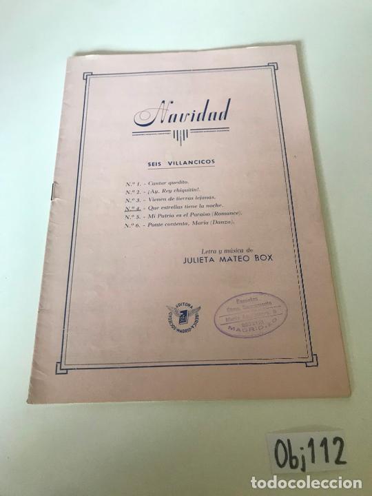 NAVIDAD (Música - Partituras Musicales Antiguas)