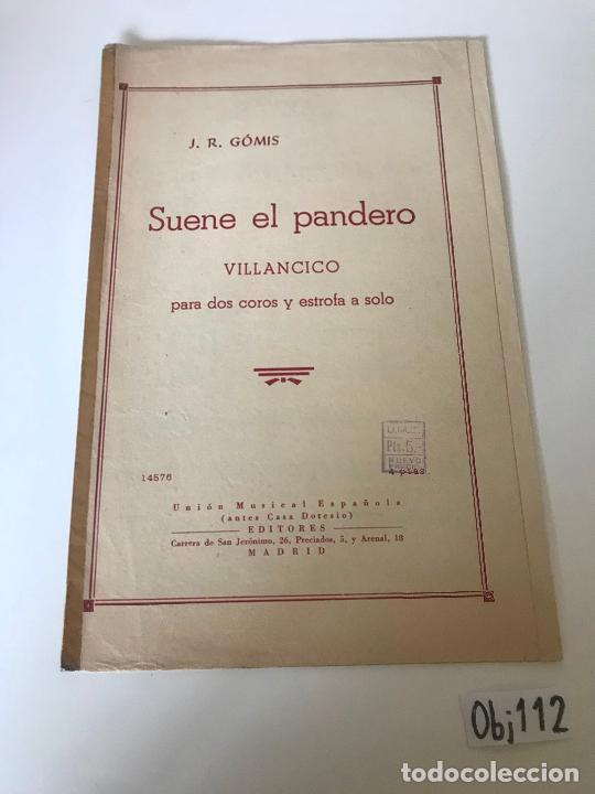 SUENE EL PANDERO (Música - Partituras Musicales Antiguas)