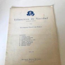 Partituras musicales: VILLANCICOS DE NAVIDAD. Lote 226302950