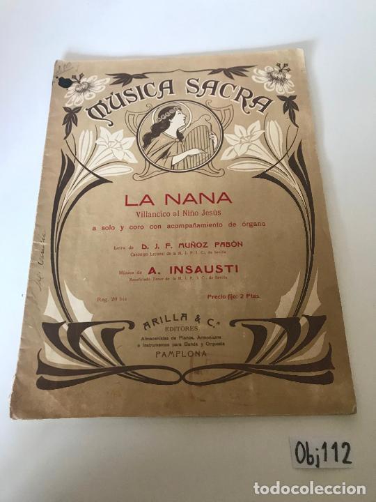 MÚSICA SACRA - LA NANA (Música - Partituras Musicales Antiguas)