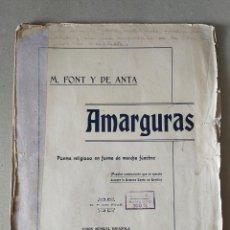 Partituras musicales: PARTITURA - SEMANA SANTA SEVILLA: AMARGURAS - MANUEL FONT Y DE ANTA - 1924, UNION MUSICAL ESPAÑOLA. Lote 228014680