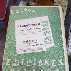 Partiture musicali: ANTIGUA PARTITURA EXITOS SALGADO PASODOBLE CAMPERO OCAÑA Y SALGADO MARGARITA. Lote 228445465