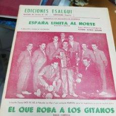 Partituras musicales: ANTIGUA PARTITURA ALONSO GUISADO ORQUESTA LOS CHICOS DEL JAZZ EDICIONES ESALGUI PONTEVEDRA. Lote 228447585