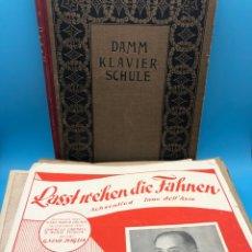 Partituras musicales: LOTE PARTITURAS CANCIONEROS HIMNO ALEMANIA/NOTENBLÄTTER DEUTSCHLAND ZWEITER WELTKRIEG/HITLER/NAZI. Lote 228658560