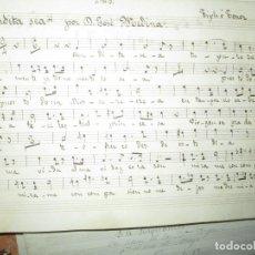 Partituras musicales: FIRMADA MANUSCRITA PARTITURA JOSE MARTINEZ GALLEGO BENDITA SEA TIPLE TENOR. Lote 229781260