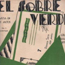 Partituras musicales: PARADAS Y JIMÉNEZ / GUERRERO : EL SOBRE VERDE (UNIÓN MUSICAL) SCHOTTISCH. Lote 230232605