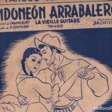 Partituras musicales: CONTURSI : BANDONEÓN ARRABALERO (GARZÓN, PARÍS) TANGO. Lote 230233145