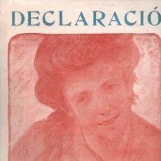 Partituras musicales: VICENS BOU : DECLARACIÓ (TOMÁS SOBREQUÉS - GIRONA) SARDANA. Lote 230234080