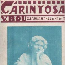 Partituras musicales: VICENS BOU : CARINYOSA (TOMÁS SOBREQUÉS - GIRONA) SARDANA LLARGA. Lote 230234525