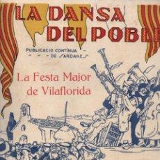 Partituras musicales: CASADEMONT : LA FESTA MAJOR DE VILAFLORIDA (LA DANSA DEL POBLE) SARDANA. Lote 230238895