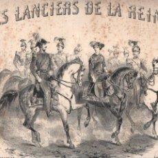 Partituras musicales: ALPHONSE LEDUC : LES LANCIERS DE LA REINE - A SA MAJESTÉ LA REINE VICTORIA. Lote 231706660