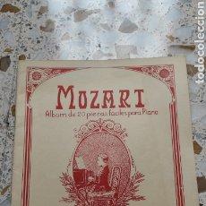 Partituras musicales: PARTITURA, MOZART ALBUM 20 PIEZAS FÁCILES PARA PIANO. Lote 231965205