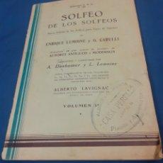 Partituras musicales: ANTIGUO METODO DE CANTO SOLFEO DE LOS SOLFEOS VOL1. Lote 234487285