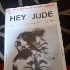 Partituras musicales: PARTITURA HEY JUDE, THE BEATLES, DE 1969. Lote 235272355
