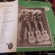 Partituras musicales: RONDALLA, PARTITURA POR EL TRIO CALAVERAS. Lote 235295645