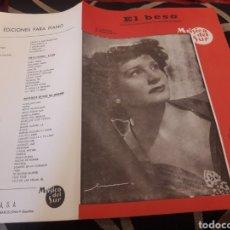Partituras musicales: EL BESO, PARTITURA, POR CELIA GAMEZ. Lote 235296580