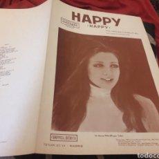 Partituras musicales: ANTIGUA PARTITURA, HAPPY DE CHAPPELL IBÉRICA. Lote 235299050