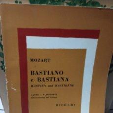Partituras musicales: PARTITURA OPERA BASTIEN Y BASTIANA-MOZART. Lote 235574710