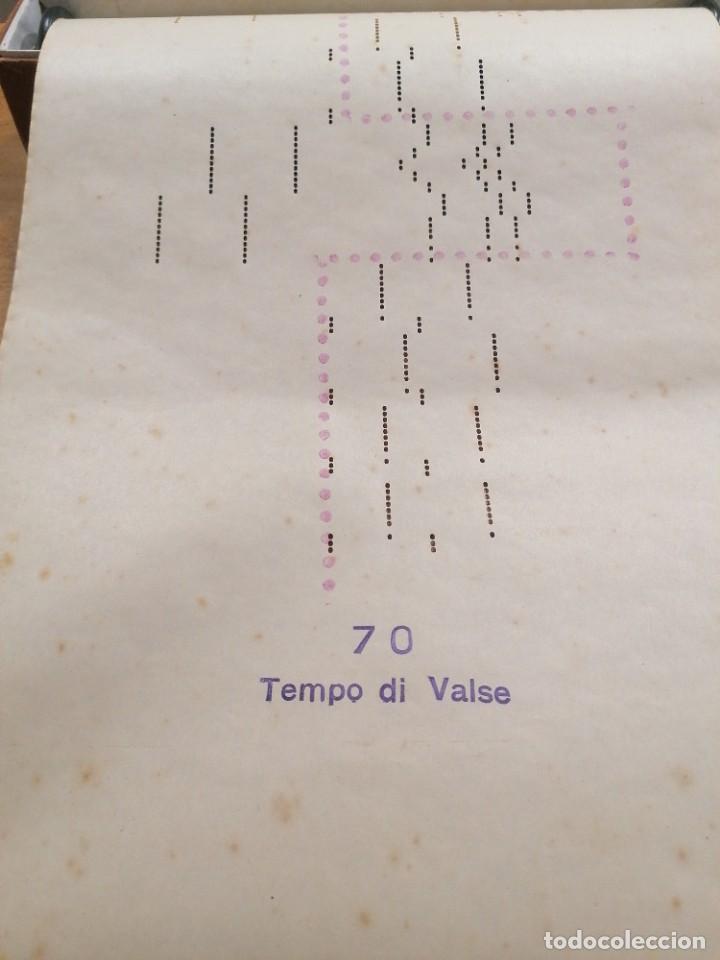 Partituras musicales: Antigua partitura de pianola Preludio Vals y Gavota - Foto 3 - 235620065