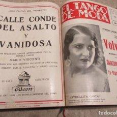 Partiture musicali: EL TANGO DE MODA, LOTE DE 33 REVISTAS CON PARTITURAS ENCUADERNADAS EN UN VOLUMEN, DE 1931 Y 1932. Lote 235706350