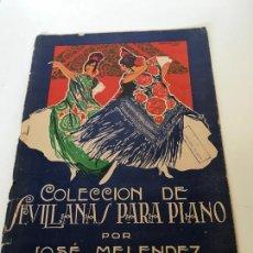 Partituras musicales: COLECCIÓN DE SEVILLANAS PARA PIANO. Lote 235713105