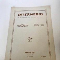 Partituras musicales: INTERMEDIO. Lote 235713995