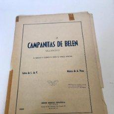 Partituras musicales: CAMPANITA DEL BELÉN. Lote 235718880