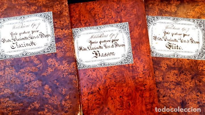 PARTITURAS - EUGÈNE WALKIERS - CUARTETO - 4 PARTITURAS - 1830 - 1840 (Música - Partituras Musicales Antiguas)