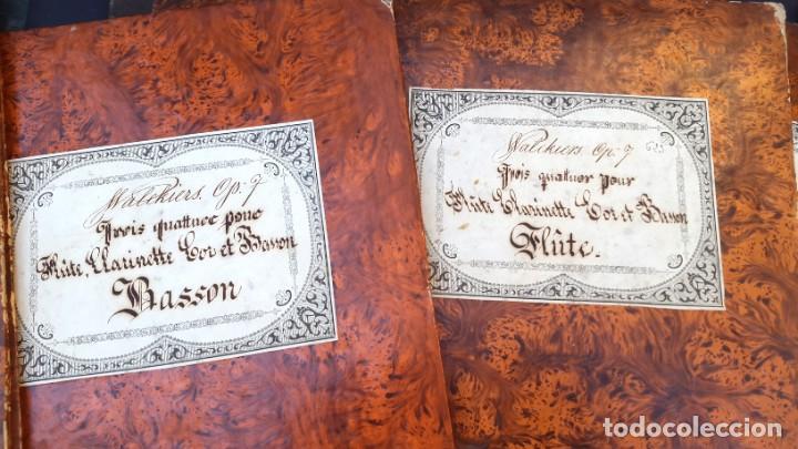 Partituras musicales: PARTITURAS - EUGÈNE WALKIERS - CUARTETO - 4 PARTITURAS - 1830 - 1840 - Foto 4 - 236942840
