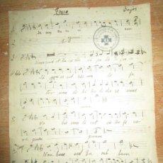 Partituras musicales: PASIO PARTITURA ANTIGUA BAJOS MANUSCRITA PARROQUIA ACC. CATOLOCA SAN NICOLAS VALENCIA. Lote 142739058