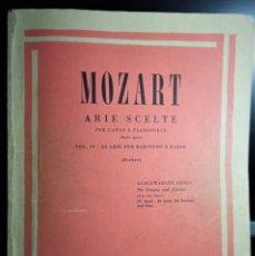 Partituras musicales: PARTITURA ARIE SCELTE-OPERAS DE MOZART-BAJO-BARITONO. Lote 237172795
