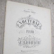Partituras musicales: 5º NOCTURNO PARA PIANO, POR J. LEYBACH OP. 52. Lote 239710805