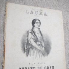 Partituras musicales: LAURA, POLKA, PARA PIANO POR DURAND DE GRAU. Lote 239711725