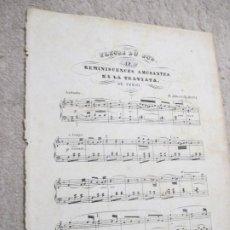 Partituras musicales: FLEURS DU SUD, REMINISCENCES AMUSANTES LA TRAVIATA DE VERDI POR H. ALBERTI. Lote 239719435