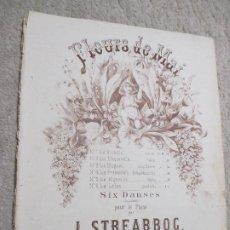 Partituras musicales: FLEURS DE MAI, SEIS DANZAS PARA PIANO POR L. STREABBOG. Lote 239719645